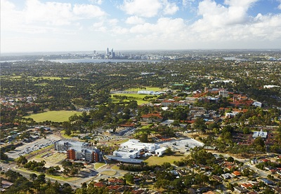 Curtin University aerial view