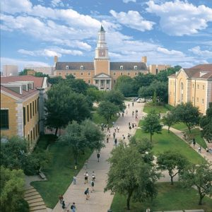 UNT administration building and clock tower