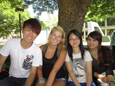 Four students at UHM