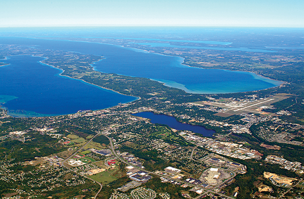 Traverse City aerial view