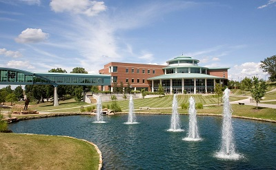 fountains on campus