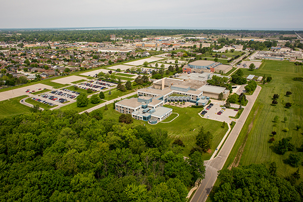 lambton college aerial photo