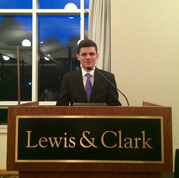 Lucas, a Brazilian student at Lewis and Clark College