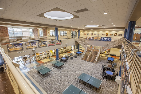 University of Tennesee at Martin student lounge