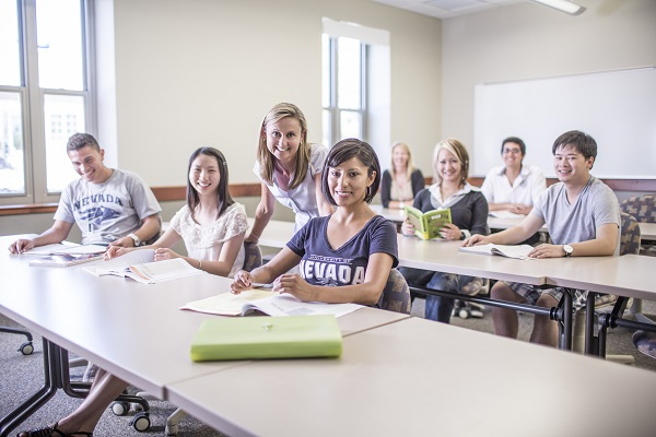university of nevada, reno students in class