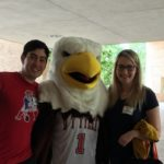 ut tyler students with mascot