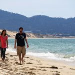 california state university monterey bay students on the beach