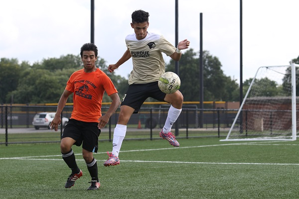 purdue northwest students playing soccer