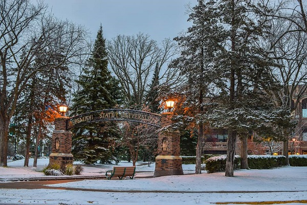 bemidji state university in winter