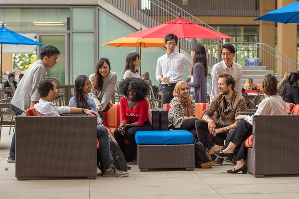 University of California, Irvine students on campus