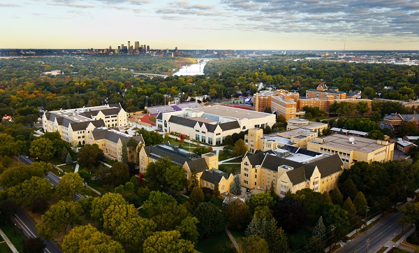 University of St. Thomas St. Paul campus aerial view